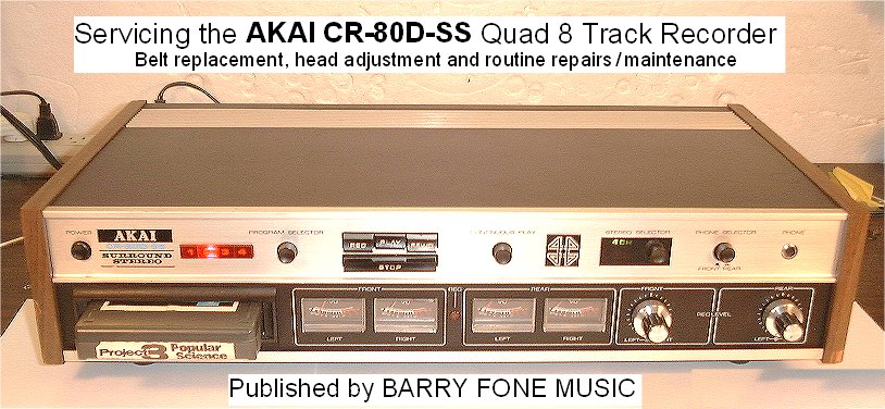 Barry U0026 39 S 8 Track Repair - 8 Track Repair Kits And Audio Alignment Tapes For The Layman