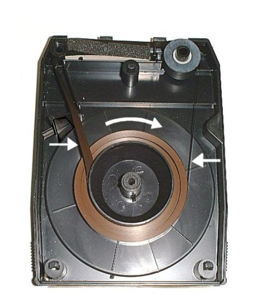 Inside Of A 8 Track Tape